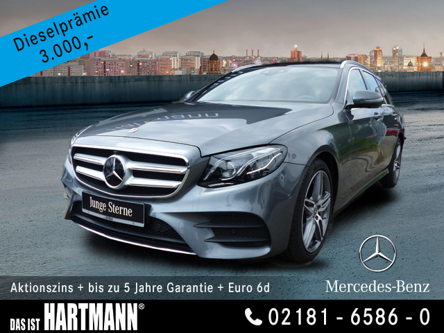 Mercedes-Benz E 450 4M T-Modell AMG+GR. NAVI+PANO.-DACH+360° K, Jahr 2020, Benzin