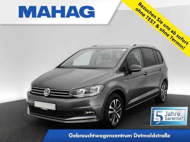 Volkswagen Touran 2.0 TDI IQ.DRIVE 7-Sitzer Navi Keyless eKlappe SideAssist LaneAssist ParkLenkAssist Bluetooth DSG, Jahr 2019, Diesel