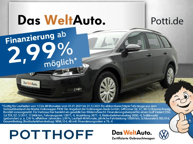 Volkswagen Golf Variant 7 VII 1.6 TDI BMT Navi Telefon Tempom, Jahr 2017, Diesel