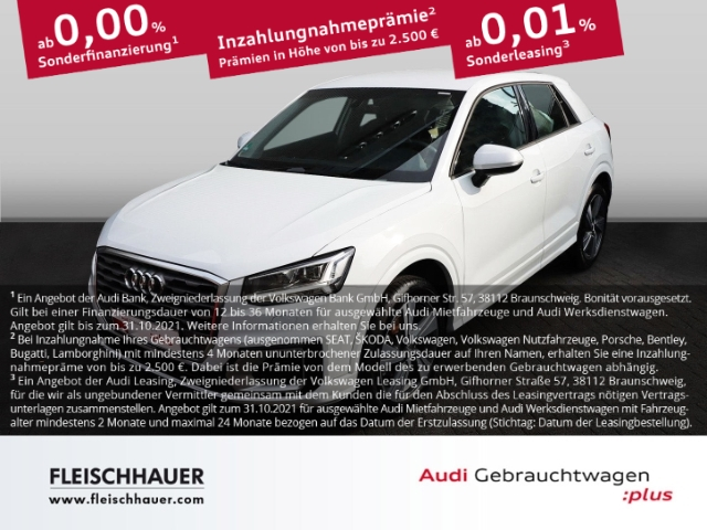 Audi Q2 30 TFSI sport 1.0 LED NAVI KLIMA SHZ PDC AHK, Jahr 2020, Benzin