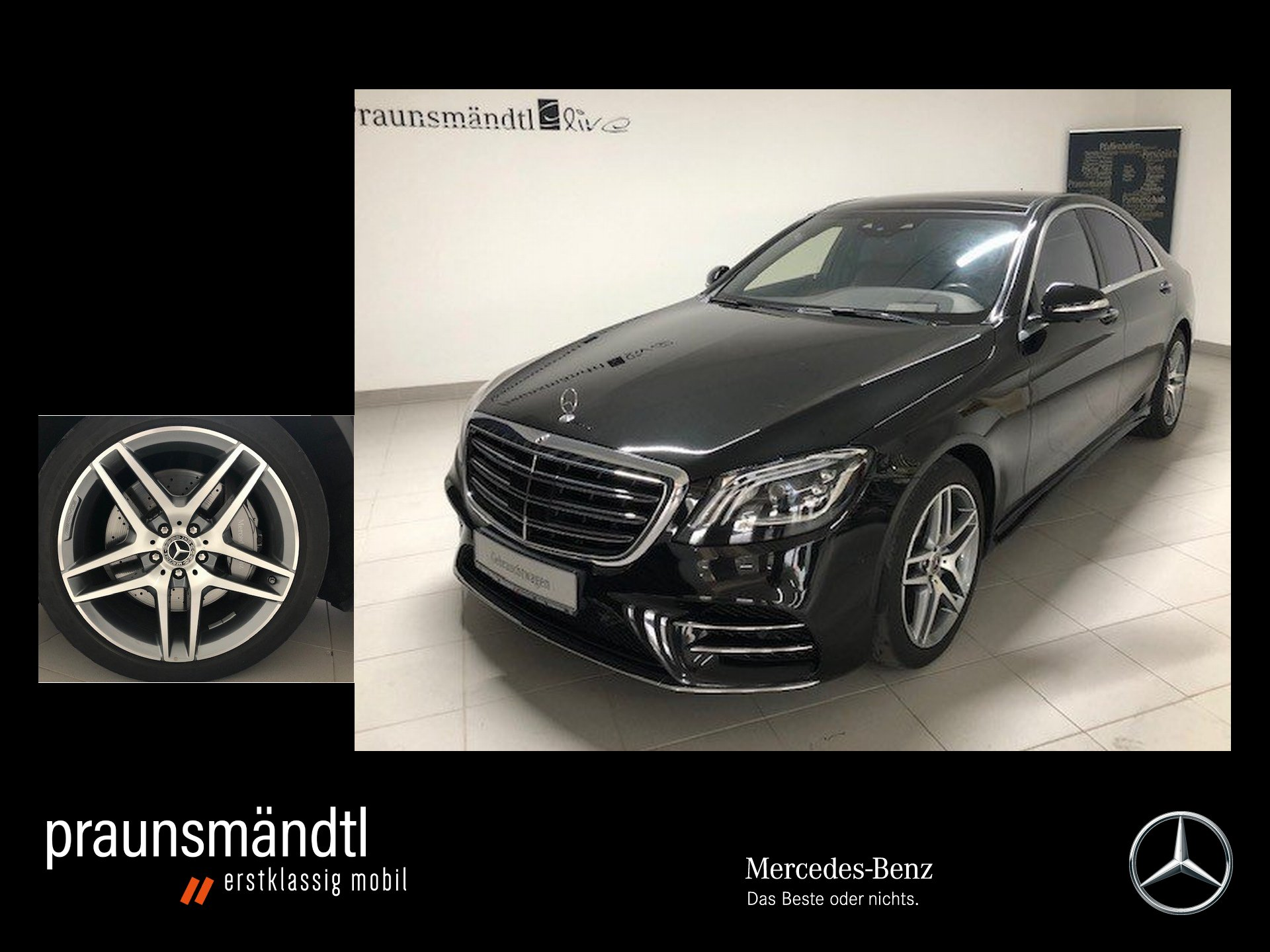 Mercedes-Benz S 560 4M AMG Pano/HeadUp/Burmester/Dis/Sitzklim, Jahr 2018, Benzin