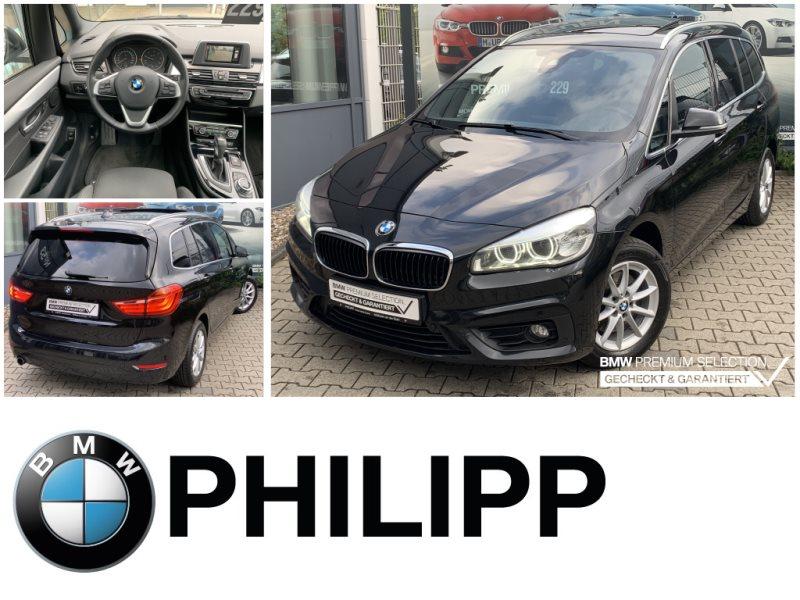 BMW 218 Gran Tourer d 7.Sitze Pano AHK RFK Navi LED, Jahr 2017, Diesel