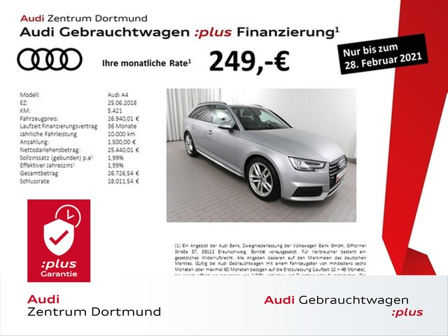 Audi A4 Avant 1.4TFSI 3xS line/Navi/BlackOptik/AHK, Jahr 2018, Benzin