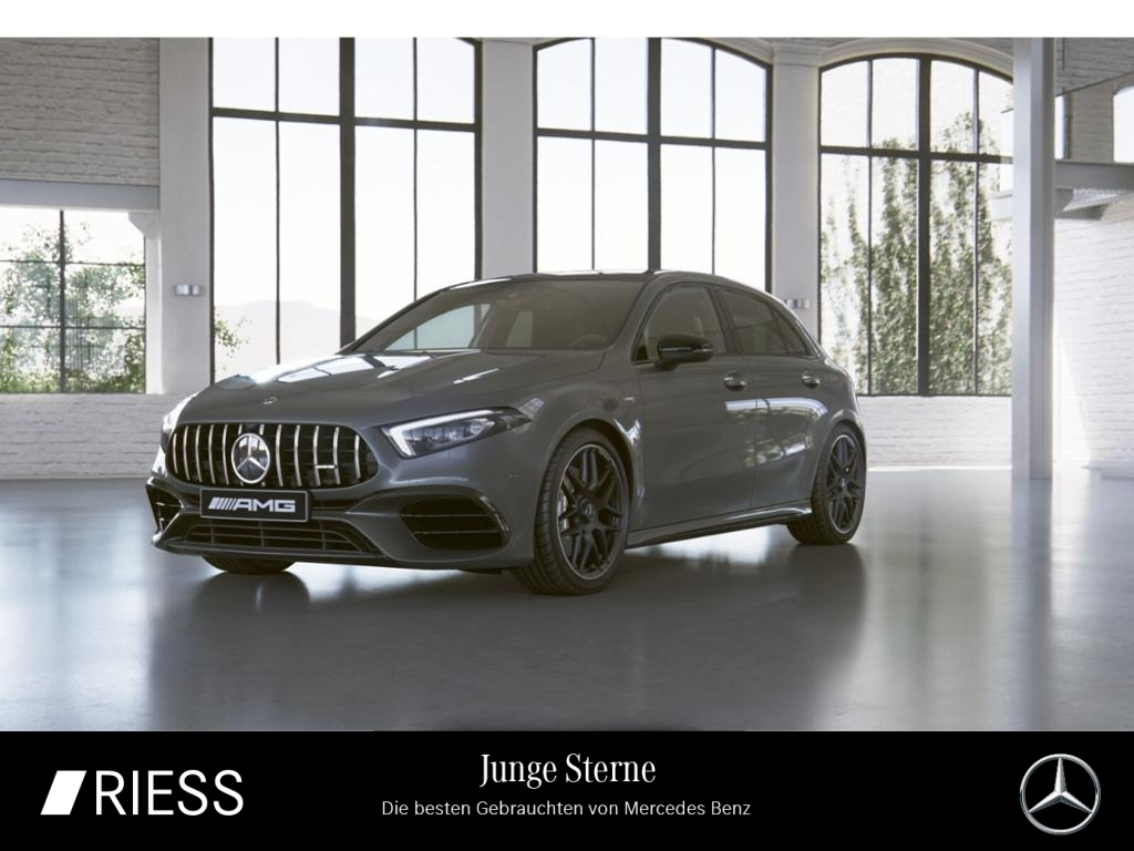 Mercedes-Benz A 45 AMG 4M+ Night Burmes Pano Distr 360 Ambi 19, Jahr 2019, Benzin
