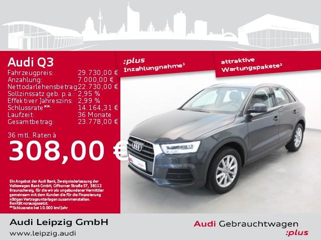 Audi Q3 2.0 TFSI quattro *LED-Paket*DAB*Navi*17Zoll*, Jahr 2018, Benzin