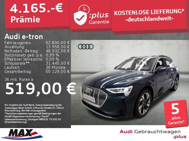 Audi e-tron 55 QUATTRO ADVANCED LED+B&O+VC+NAV+KAMERA, Jahr 2019, Elektro