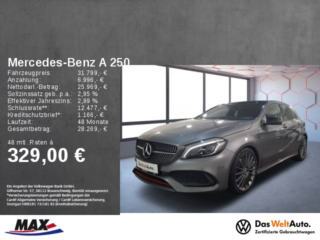 Mercedes-Benz A 250 4MATIC AMG SPORT PAKET LED+PANO+H&K+KAMERA, Jahr 2018, Benzin