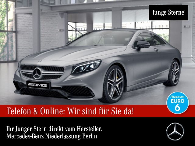 Mercedes-Benz S 63 4MATIC Coupé Bluetooth Head Up Display Navi, Jahr 2017, Benzin