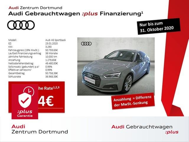Audi A5 Sportback sport 40TDI qu. 2xS line/ACC/Matrix/B+O, Jahr 2020, Diesel