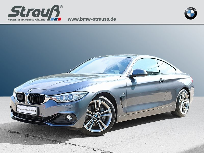 BMW 435i Coupé Sport Line HK HiFi Xenon Navi Prof., Jahr 2013, petrol
