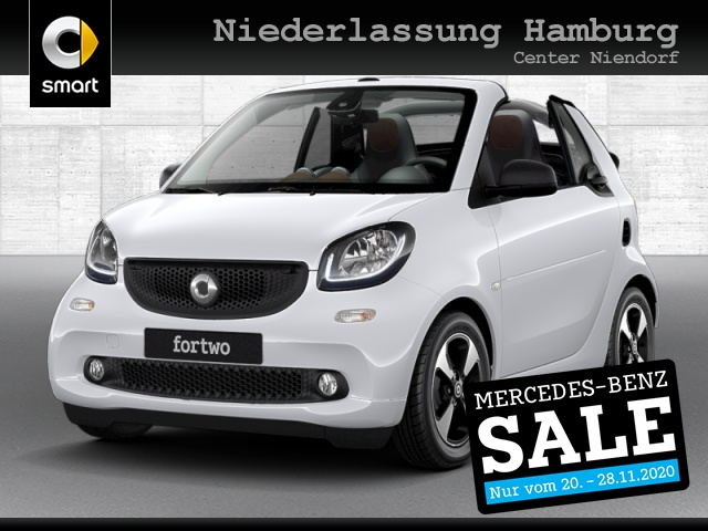 smart fortwo cabrio 52kW perfect DCT cool&Audio SHZ LED, Jahr 2019, Benzin