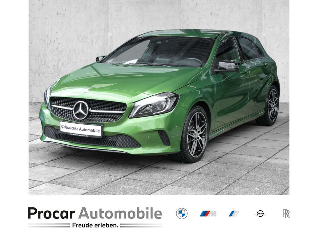 Mercedes-Benz A 180 NAVI+ADAP LED+KLIMAAUT+NIGHTSTYLE+SHZ, Jahr 2015, Benzin