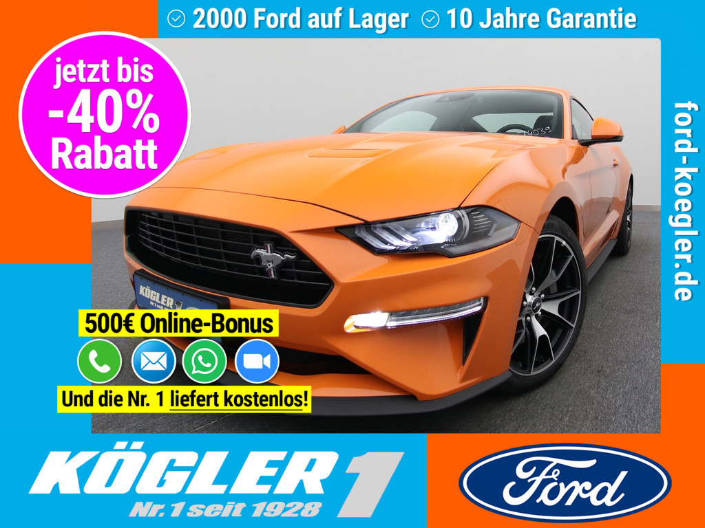 Ford Mustang Fastback 290PS/Premium-Paket II, Jahr 2020, Benzin