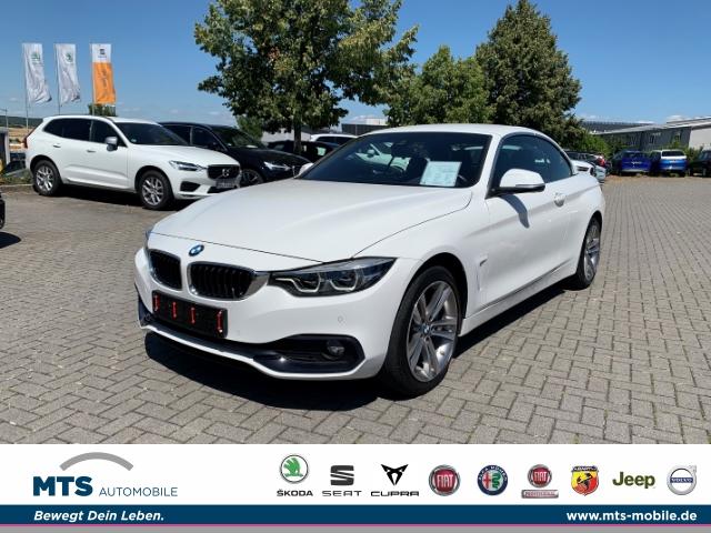 BMW 435 d xDrive SportLine Cabrio, M-Paket, HeadUp, Leder, R-Kamera uvm..., Jahr 2017, Diesel