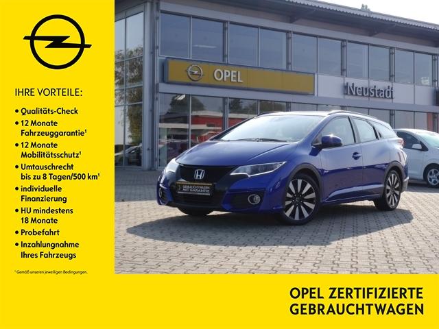 Honda Civic Tourer-Elegance 1.8 Anhängerk./ Navi/ Rück, Jahr 2017, Benzin