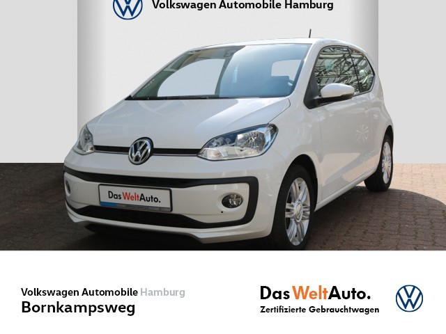 Volkswagen up! 1,0 high up! PDC/MAPS+MORE/KLIMA, Jahr 2016, Benzin