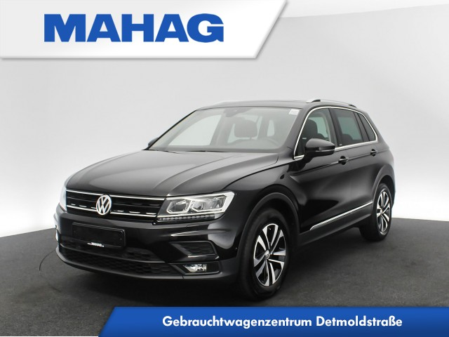 Volkswagen Tiguan 1.5 TSI IQ.DRIVE Navi LED AHK Panorama Kamera Sitzhz. ParkAssist LightAssist FrontAssist 17Zoll DSG, Jahr 2019, Benzin