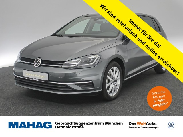 Volkswagen Golf VII 2.0 TDI IQ.DRIVE Navi LED Panorama ActiveLighting ParkLenkAssist 17Zoll DSG, Jahr 2019, Diesel