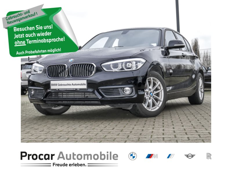 BMW 120i Advantage Aut. Navi Bus. PDC v+hi. LED, Jahr 2017, Benzin