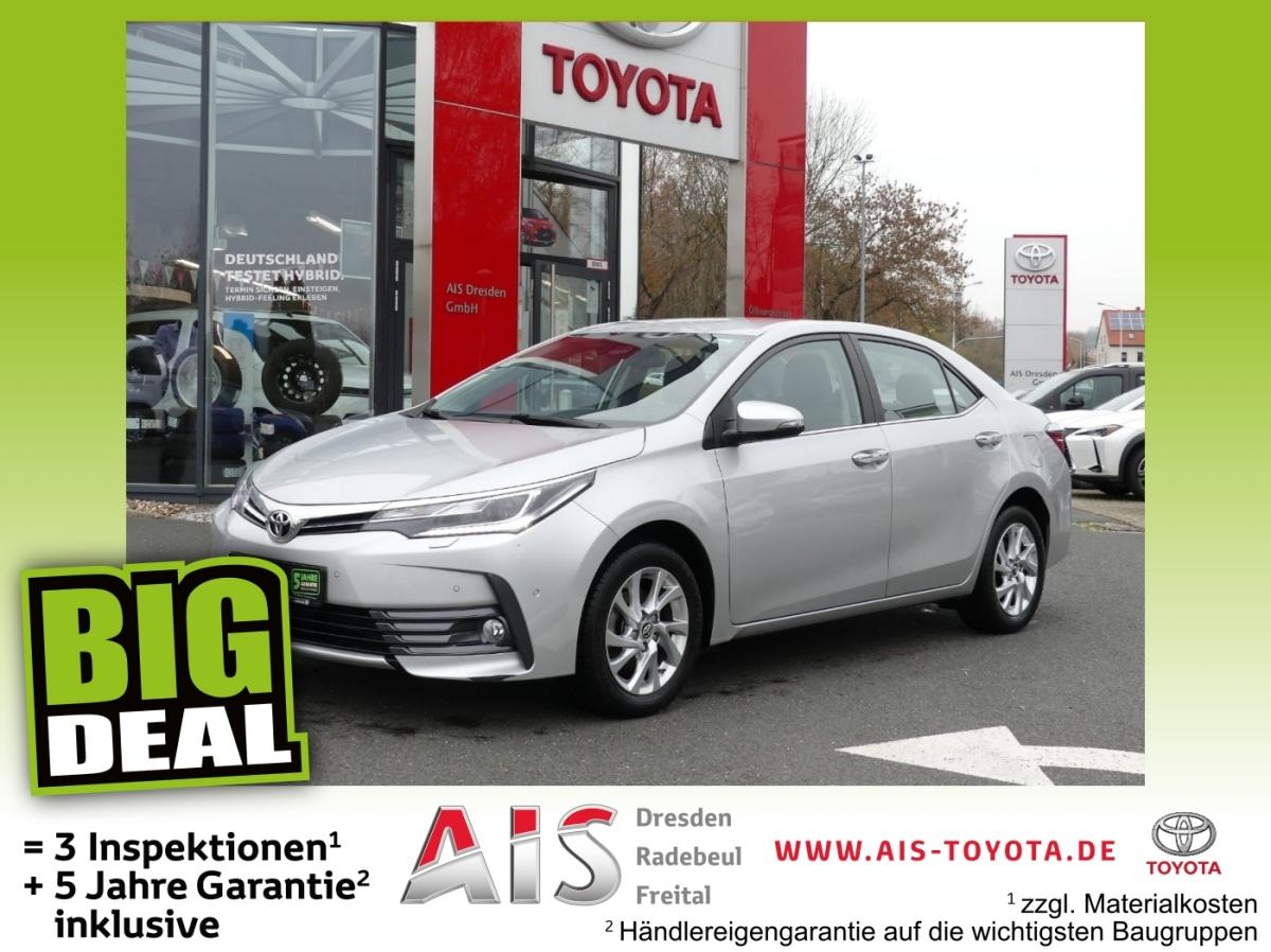 Toyota Corolla 1.6 Valvematic Edition LED, SHZ, Navi, P, Jahr 2016, Benzin