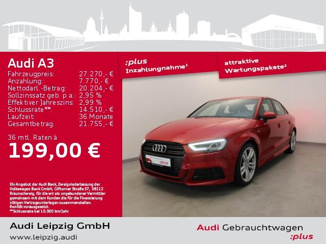 Audi A3 Limousine 35 TFSI sport *2xS-line*Matrix*B&O*, Jahr 2018, Benzin