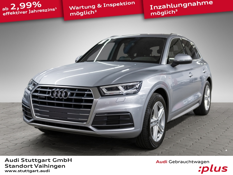 Audi Q5 2.0TDI quattro S line AIR LED virtCo 19'' AHK, Jahr 2017, Diesel