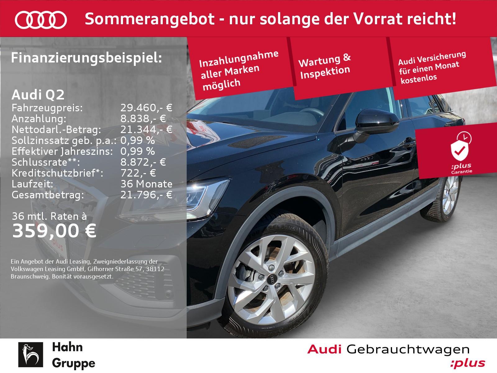 Audi Q2 35 TFSI Navi LED CAM Sitzh Sitzh Tempo Klima, Jahr 2020, Benzin