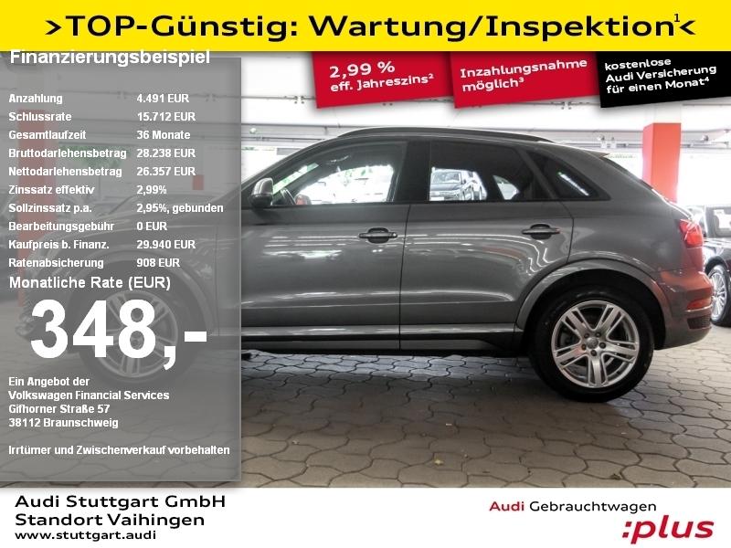Audi Q3 2.0 TFSI quattro S line AHK LED Pano Keyless, Jahr 2018, Benzin