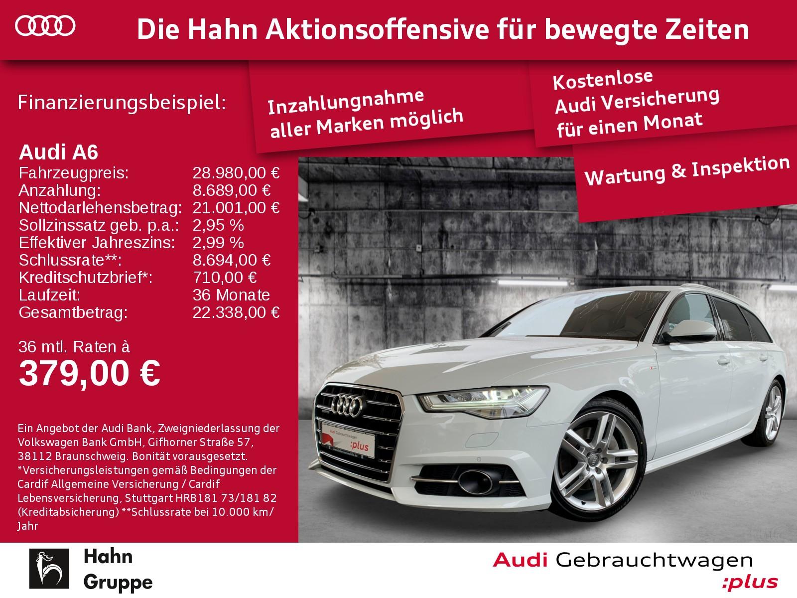 Audi A6 Avant 3.0TDI qu. S-Trc S-line LED Cam NAVI SitzH, Jahr 2017, Diesel