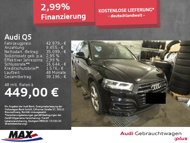 """Audi Q5 3.0 TDI QUATTRO S LINE MATRIX LED+NAV+AHK+20"""", Jahr 2018, diesel"""