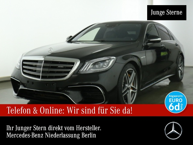 Mercedes-Benz S 63 4MATIC lang Sportpaket Bluetooth Navi LED, Jahr 2020, Benzin