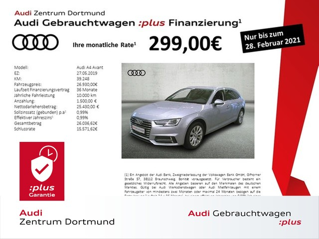 Audi A4 Avant design 35TDI Navi/Xenon/APS+/ASG, Jahr 2019, Diesel