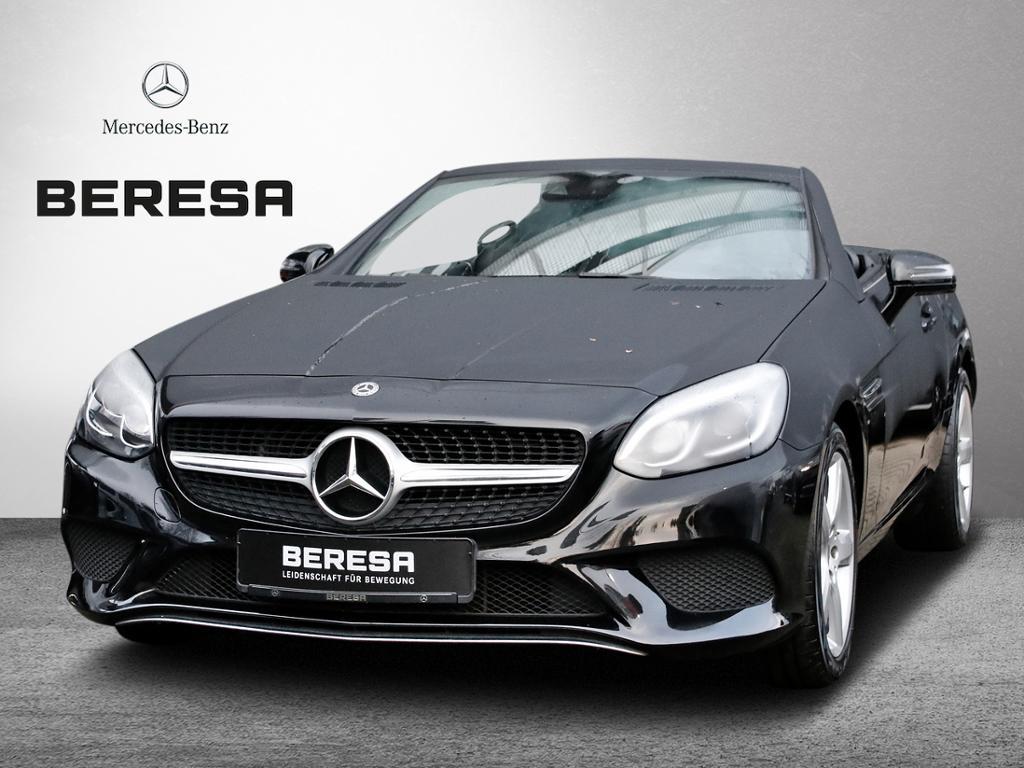 Mercedes-Benz SLC 180 Pano.-Dach LED ILS Sitzheiz. 17 Zoll, Jahr 2017, petrol