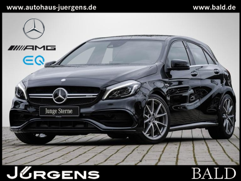 Mercedes-Benz A 45 AMG 4M Navi/LED/Pano/Cam/Memo/Distr/Totw/18, Jahr 2016, Benzin