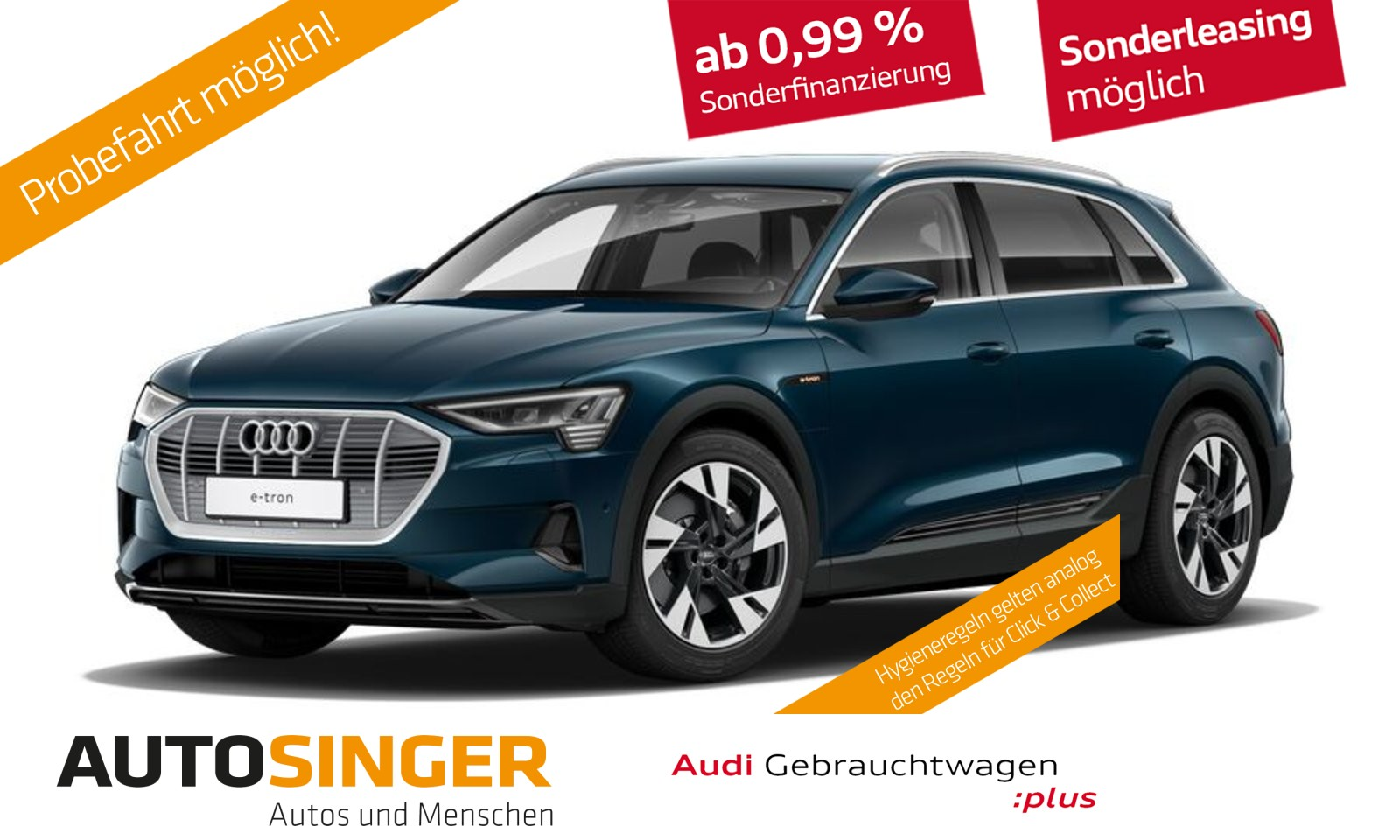 Audi e-tron 50 BAFA*5000möglich*Virtual*Luftf*Navi*LED*, Jahr 2020, Elektro