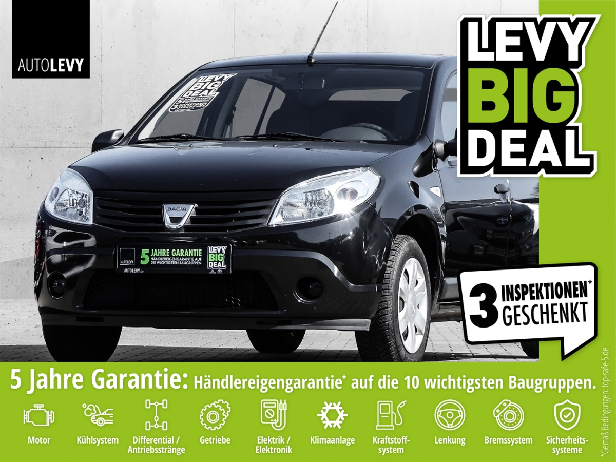 Dacia SANDERO 1.2 16V LIFE II *Klima*I.Hand*Radio/CD*W, Jahr 2012, Benzin