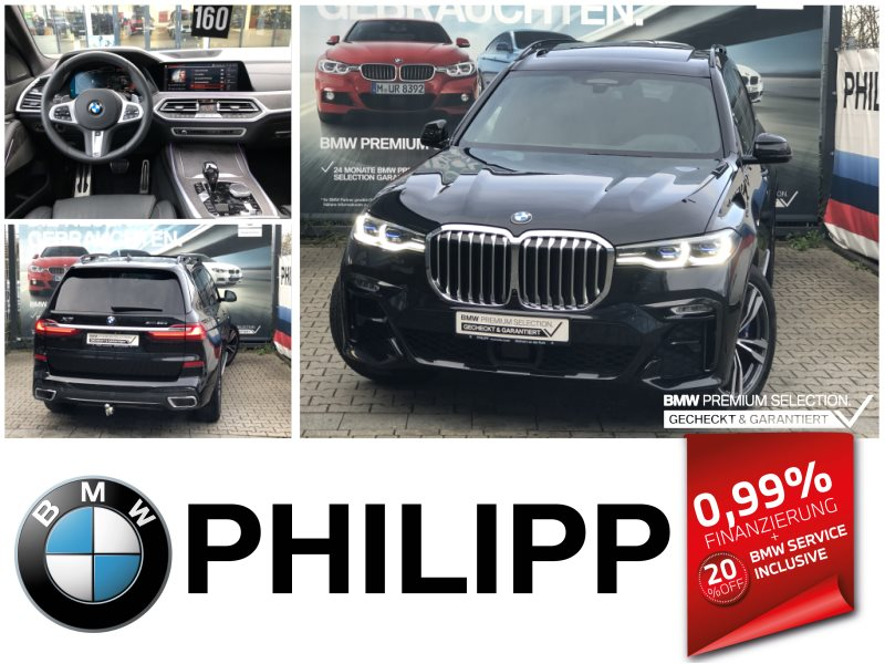BMW X7 xDrive30d M Sportpaket LEA ab 999,-Laser Sky DAP h&k HUD, Jahr 2020, Diesel