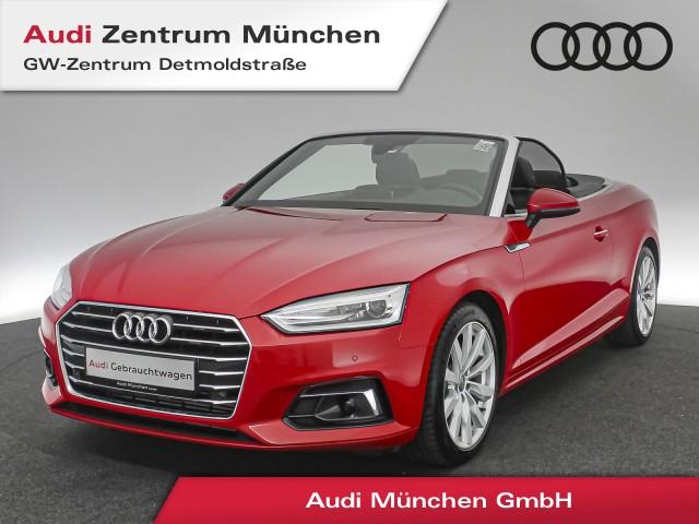 Audi A5 Cabriolet 2.0 TFSI Design Virtual Assistenz Navi Xenon PDCplus A5 Cabrio FSI2.0 R4140 A7, Jahr 2017, Benzin