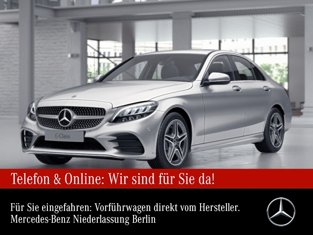 Mercedes-Benz C 180 AMG LED Kamera Spurhalt-Ass SpurPak PTS 9G, Jahr 2021, Benzin