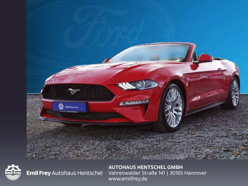 Ford Mustang Convertible 2.3 Automatik Leder Navi Premiumpaket, Jahr 2018, petrol