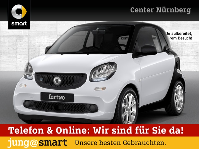 smart fortwo coupé 60kWed passion cool&Media SHZ Tempom, Jahr 2017, Elektro