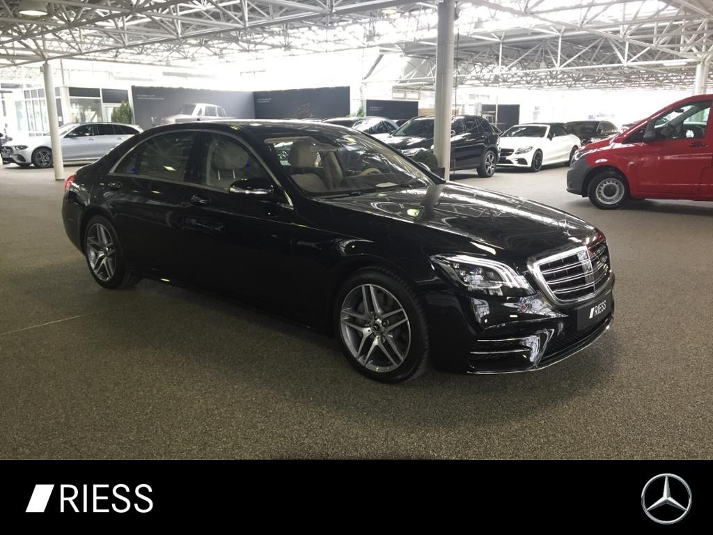 Mercedes-Benz S 450 4M lang AMG+PANO+KEYLES+STDHZG+360°+HEADUP, Jahr 2019, Benzin