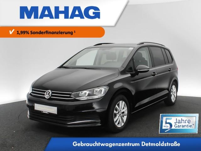 Volkswagen Touran 1.5 TSI Comfortline 7-Sitzer Navi Keyless Sitzhz. ParkPilot FrontAssist 16Zoll DSG, Jahr 2019, Benzin