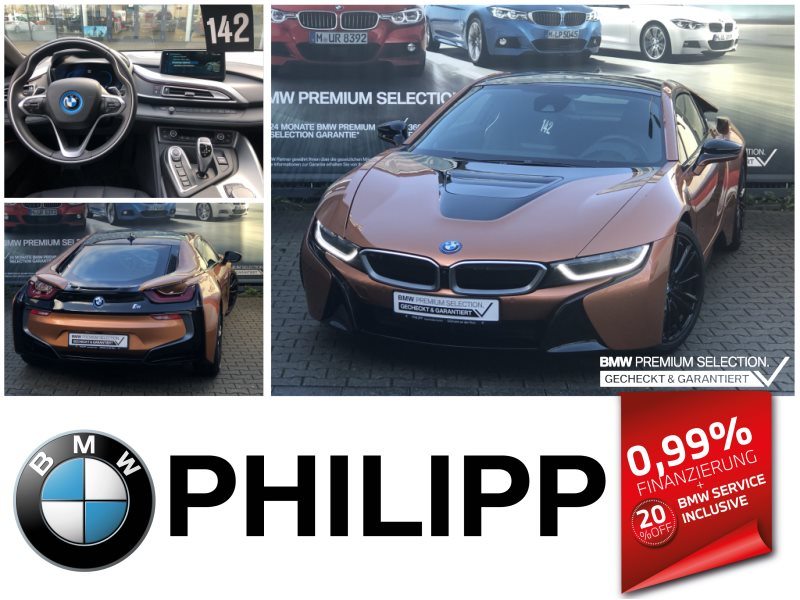 BMW i8 Coupé Head-Up HK HiFi LED Navi Prof. Shz PDC, Jahr 2019, Hybrid