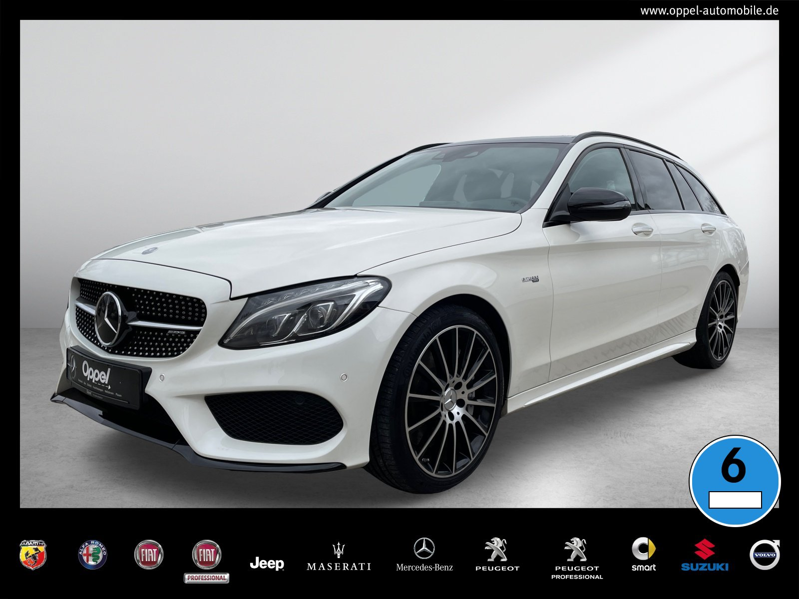 Mercedes-Benz C 43 AMG 4MATIC T-Modell ACC+PANO+NIGHT+AHK+LED, Jahr 2017, Benzin