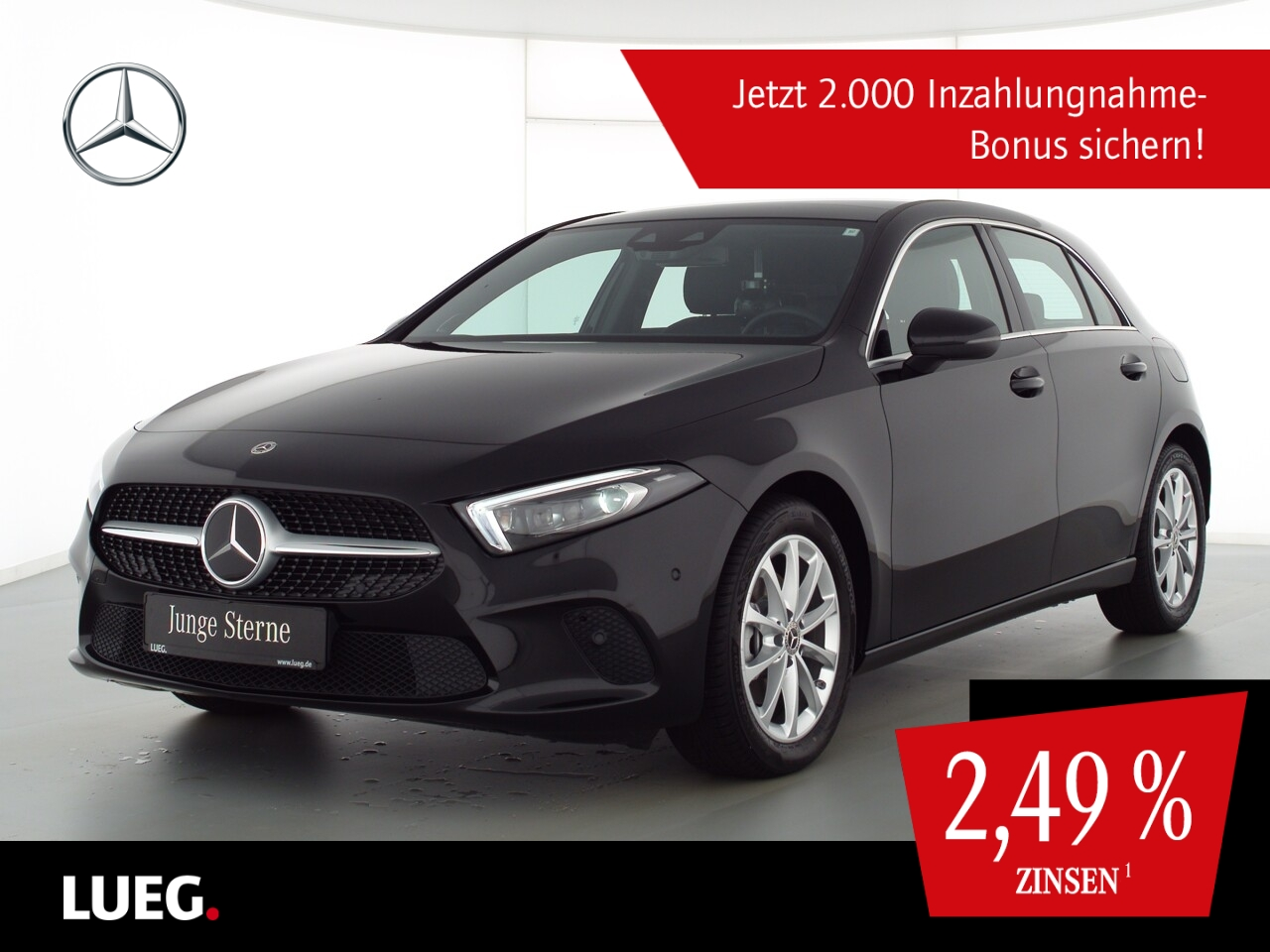 Mercedes-Benz A 180 d Progressive+MBUXHighEnd+PanoD+Mbeam+Burm, Jahr 2020, Diesel