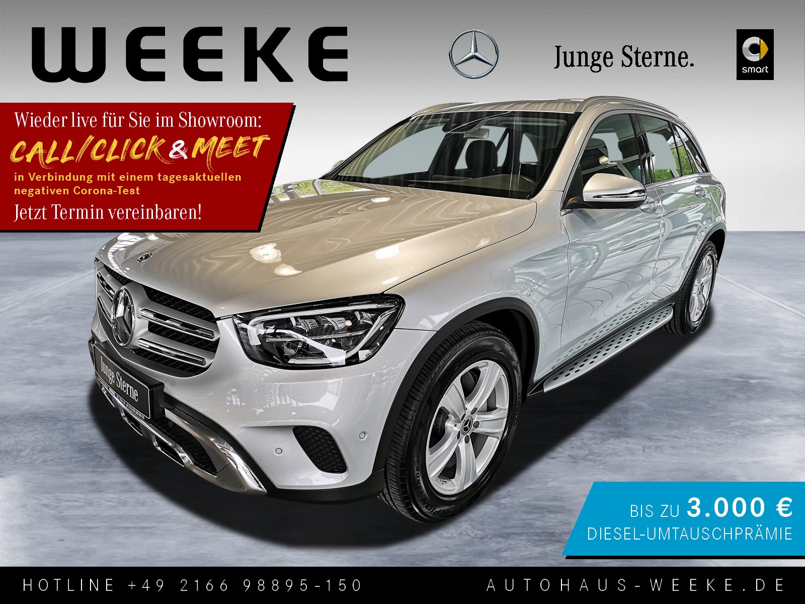 Mercedes-Benz GLC 200 4M Trittbretter+ASSITENZ-PAKET+LED+EASY-, Jahr 2019, Benzin