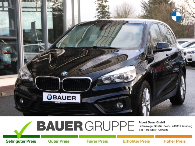 BMW 216 Active Tourer i Advantage SHZ Klimaautomatik PDC MFL Nebelscheinwerfer Keyless LED-hinten, Jahr 2017, Benzin