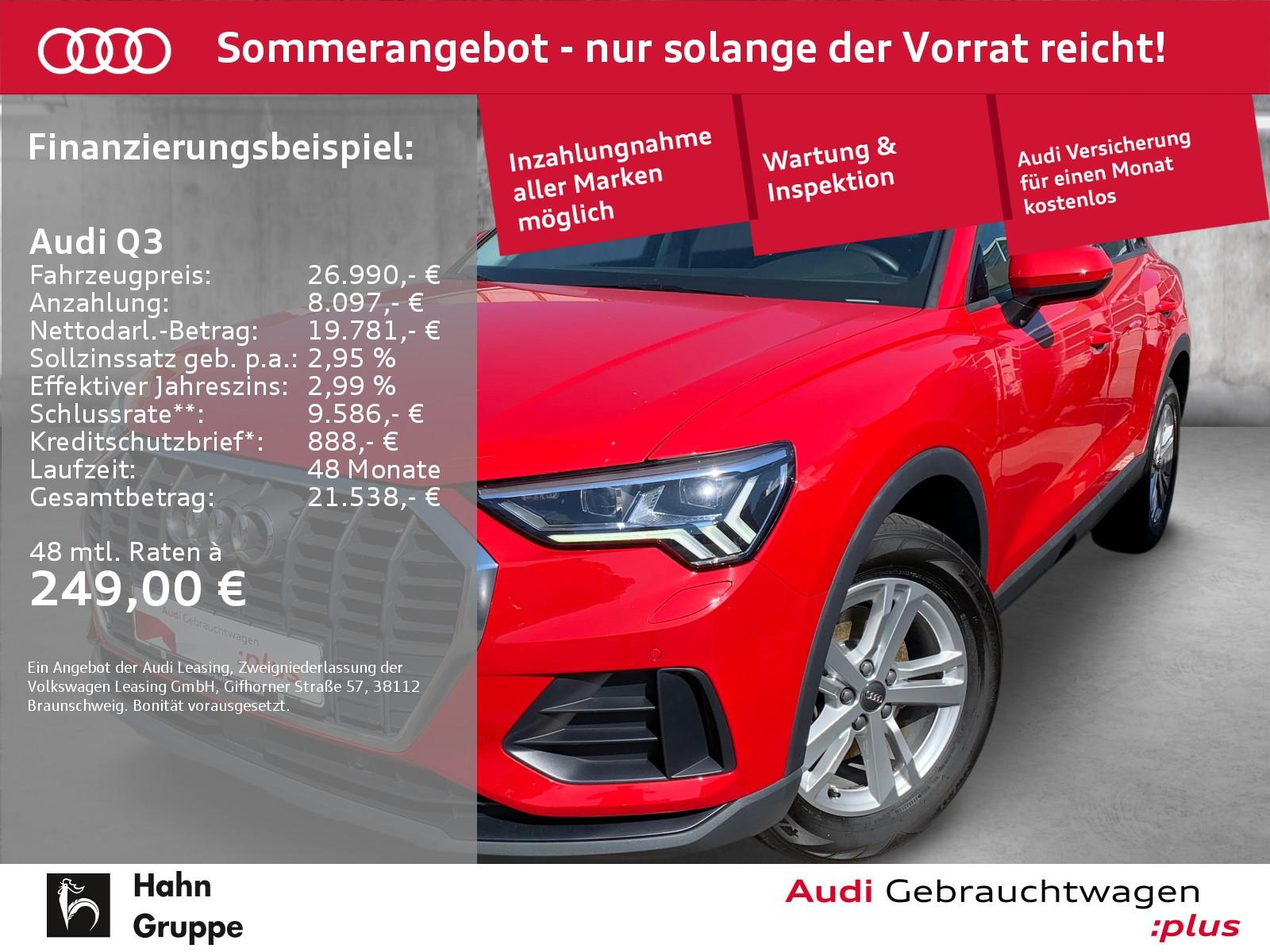 Audi Q3 35 TDI qua. Navi LED CAM Pano Sitzh Klima, Jahr 2019, Diesel