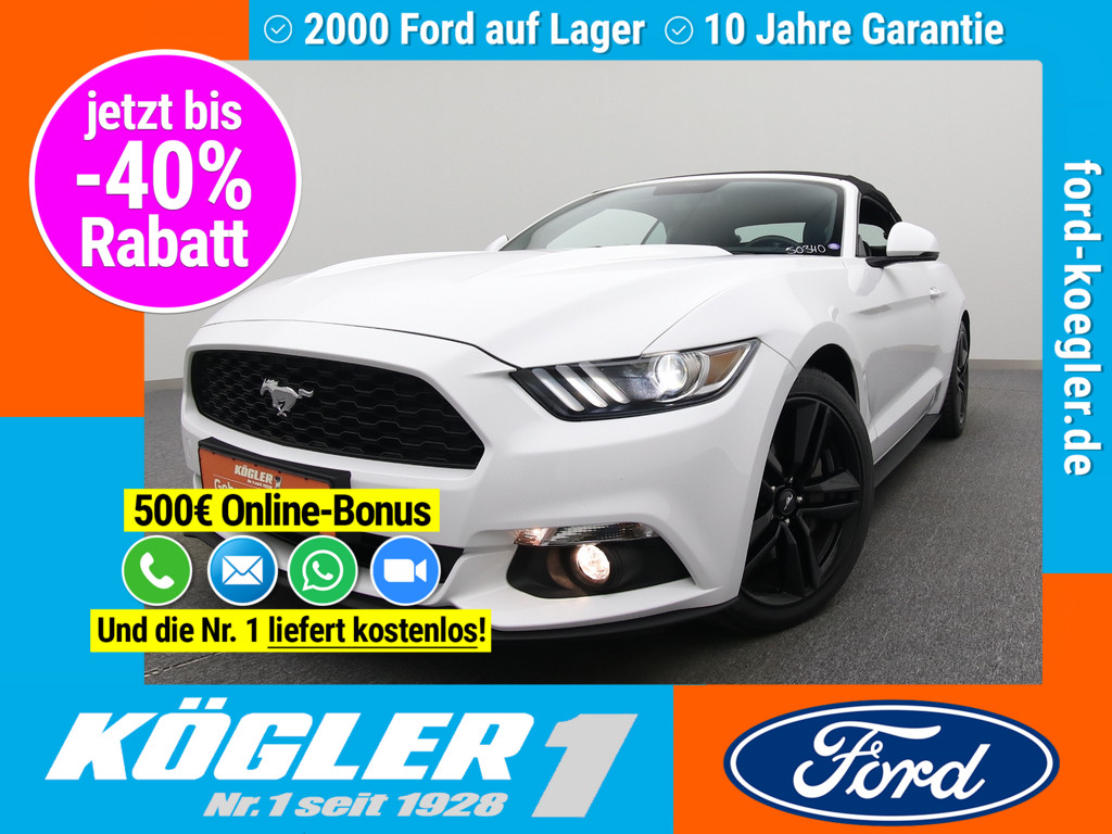 Ford Mustang Cabrio 317PS/Premium-P.II/Performance-P., Jahr 2018, Benzin